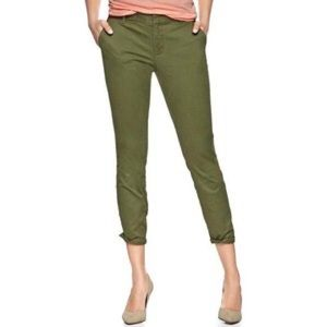 Gap Skinny Mini Khaki Crop